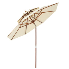 Jacob Outdoor 8.75-foot Beige Tilt Canopy Umbrella