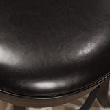 Davis Black Bonded Leather Swivel Backed Counter Stool
