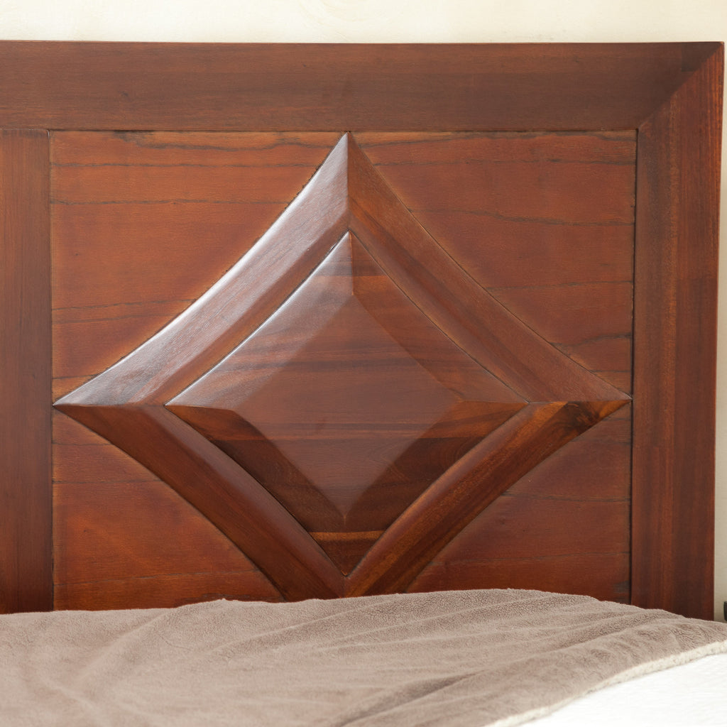 Bernard Parish Queen Sized Red Mahogany Headboard