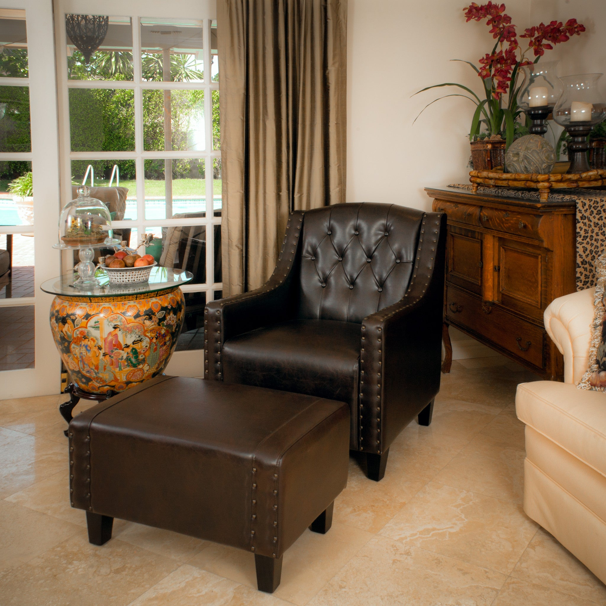Accent Chair And Ottoman Set Abigail Chair And Ottoman Set