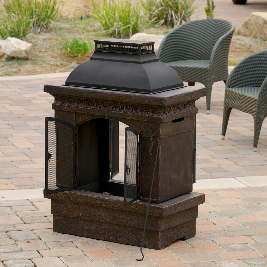 Charles Outdoor Chiminea Fireplace