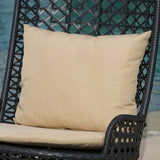 Brinkley Outdoor Black Wicker Swinging Chair