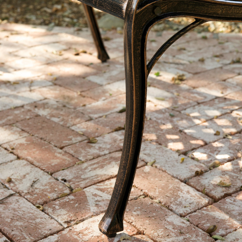 Casablanca Outdoor Copper Cast Aluminum Bench