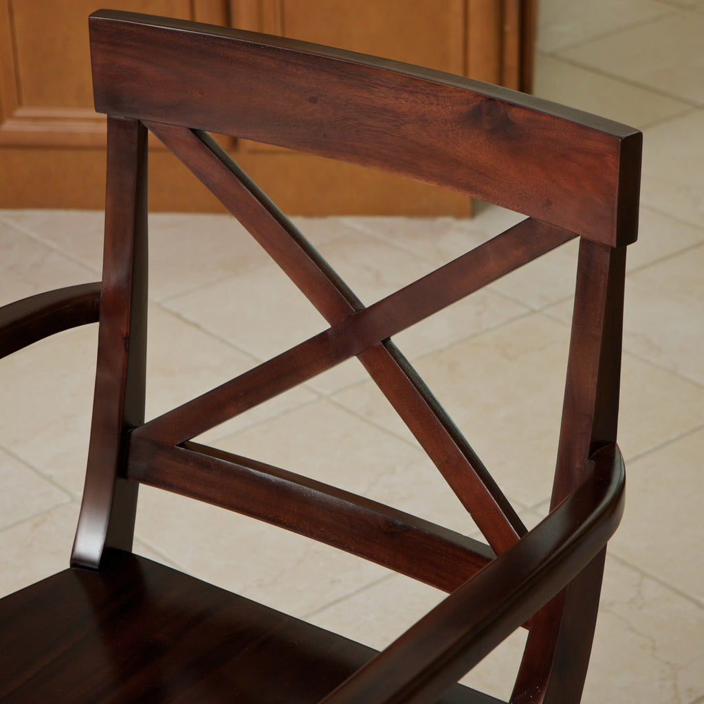 Memphis Armed Crossback Wood Dining Chair
