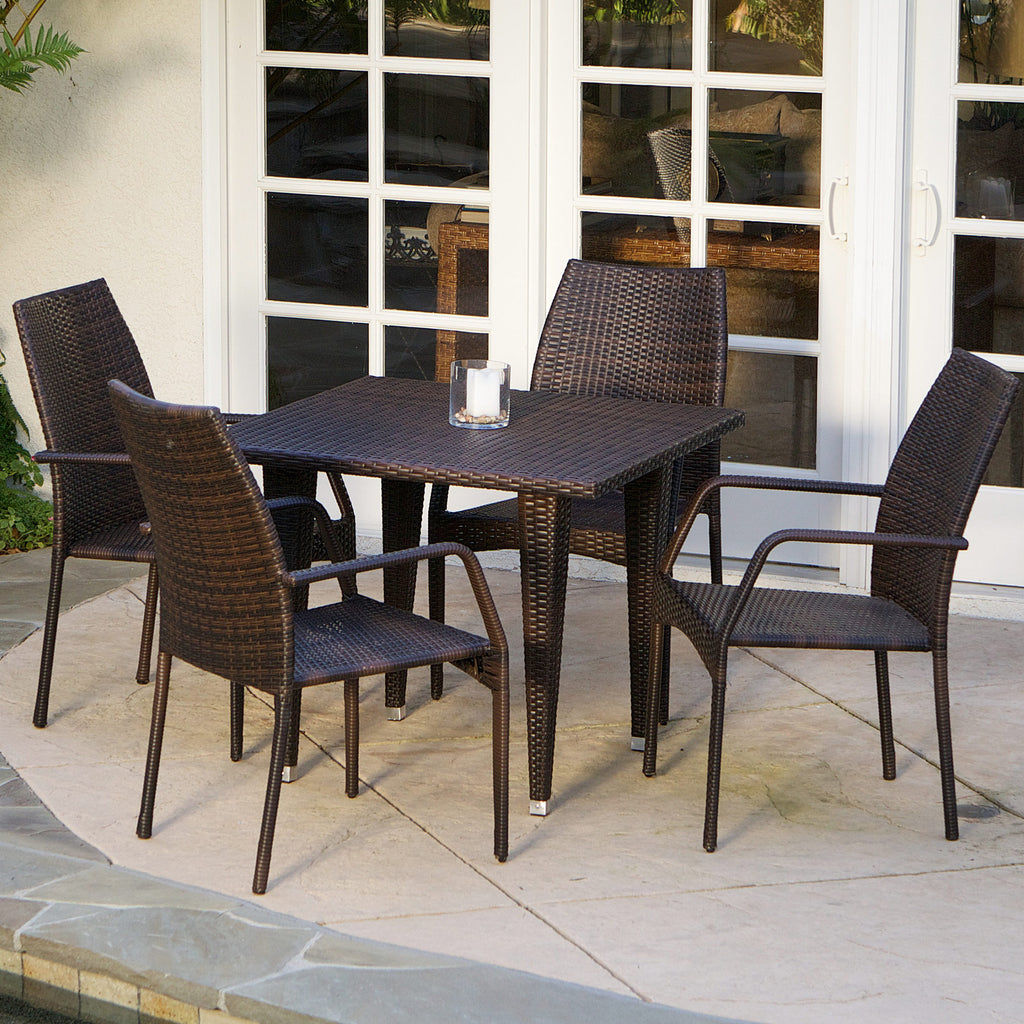 Michael 5 Piece Outdoor Wicker Dining Set