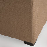 816764017457 Cloverdale Jute Fabric Shoe Storage Ottoman Foot View