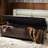 817056010286 Canal Brown Leather Storage Ottoman Storage View