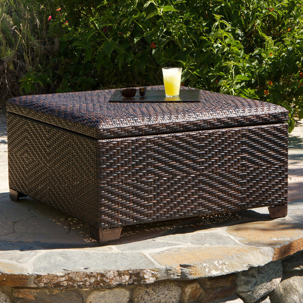 817056011023 Kingston Indoor-Outdoor Storage Ottoman Full View Outdoor