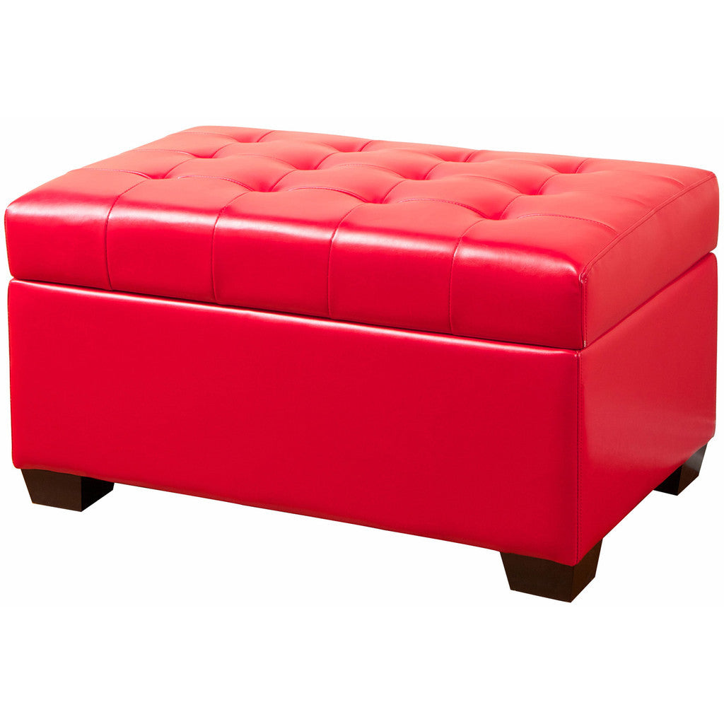 817056011559 - Hayward Red Leather Tufted Ottoman Bench - Full View White Background  sc 1 st  Great Deal Furniture Canada & Hayward Red Leather Tufted Ottoman Bench | Great Deal Furniture Canada islam-shia.org