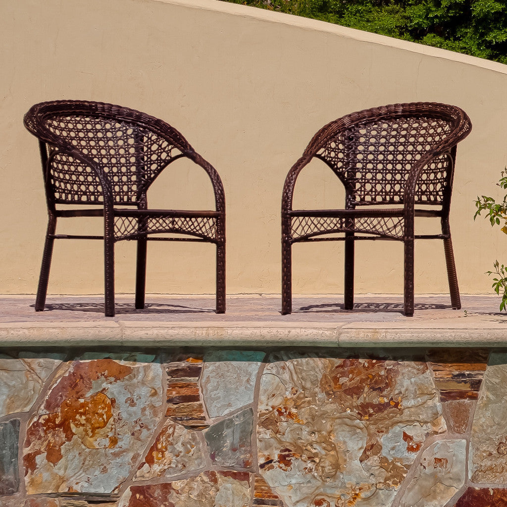 817056011993 Malibu 2pk Wicker Club Chairs Full View Outdoors