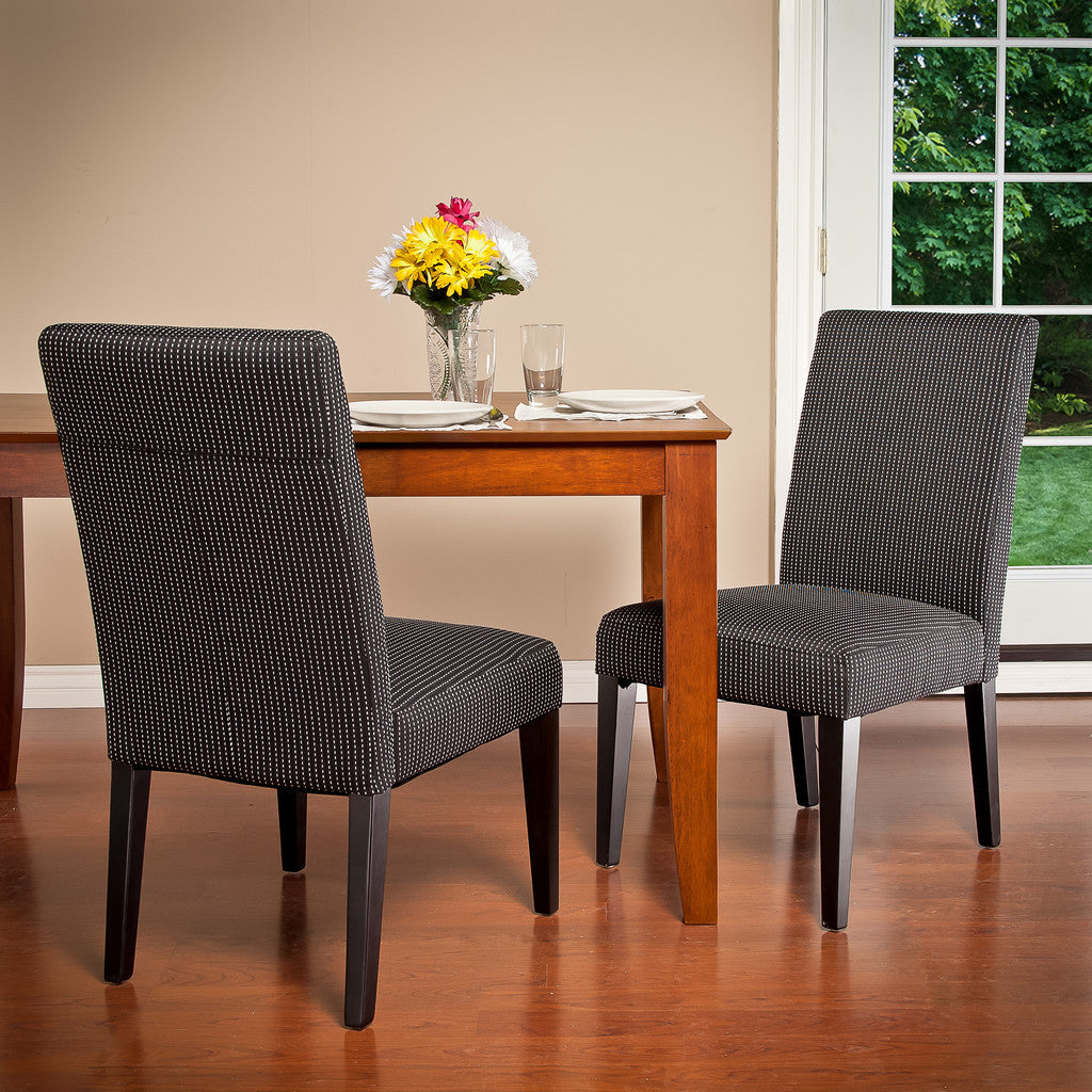 817056012402 Stanton Dark Blue Fabric Dining Chairs (Set of 2) Full View in Room