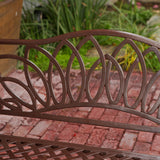 817056012471 Brockway Brown Patio Bench Back Detail