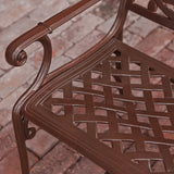 817056012471 Brockway Brown Patio Bench Bench Detail