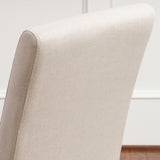 817056014901 Emilia Natural Fabric Dining Chair (Set of 2) Chair Back Detail View