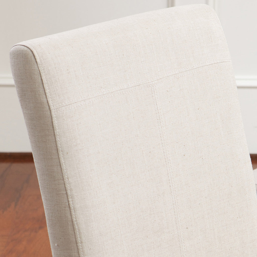 817056014901 Emilia Natural Fabric Dining Chair (Set of 2) Fabric Detail View