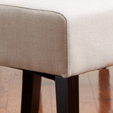 817056014901 Emilia Natural Fabric Dining Chair (Set of 2) Leg Detail View