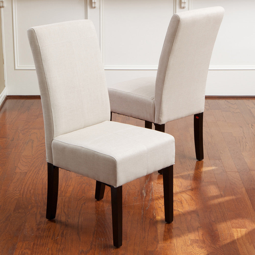 817056014901 Emilia Natural Fabric Dining Chair (Set of 2) Set View in Room