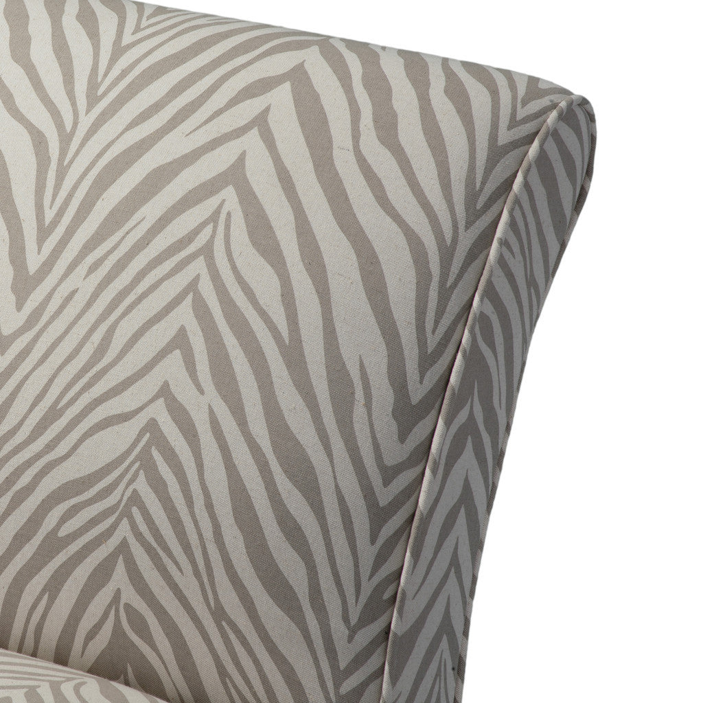 817056015328 Lemma Zebra Grey Fabric Chair Chair Detail