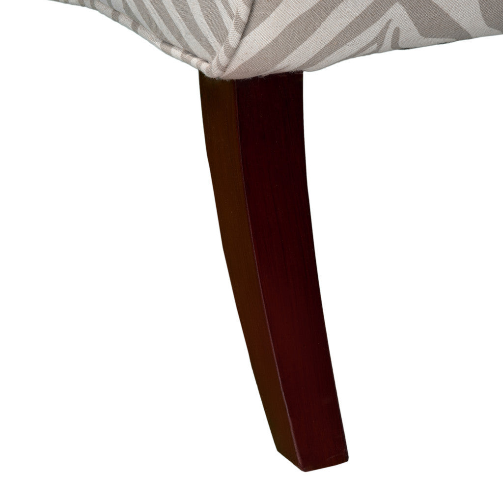 817056015328 Lemma Zebra Grey Fabric Chair Leg Detail