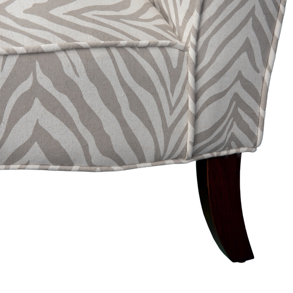 817056015328 Lemma Zebra Grey Fabric Chair View