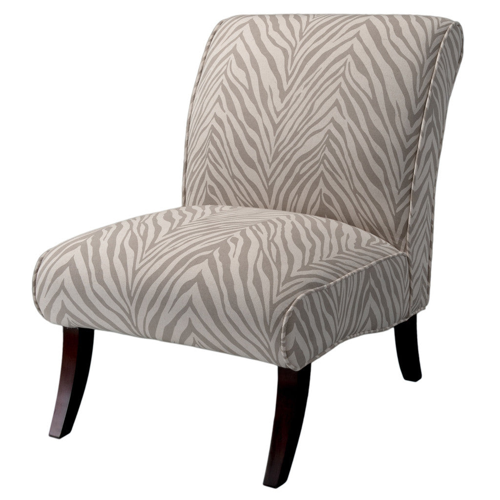 817056015328 Lemma Zebra Grey Fabric Chair White Background