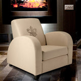 817056015373 Louis Beige Fabric Fleur de Lis Club Chair Full View in Room
