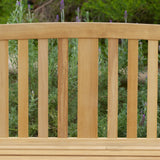 817056016523 San Luis Eucalyptus Outdoor Bench Back Detail View