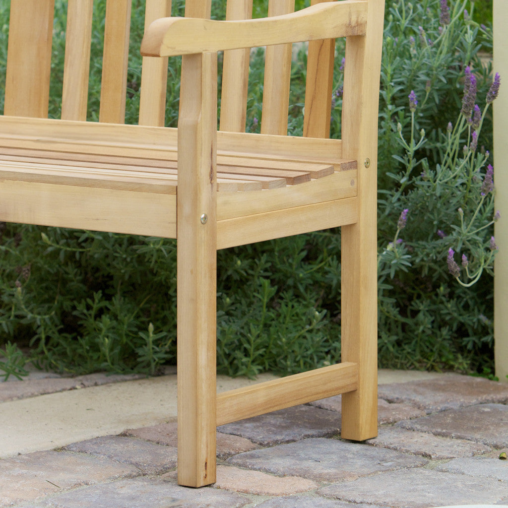 817056016523 San Luis Eucalyptus Outdoor Bench Foot View