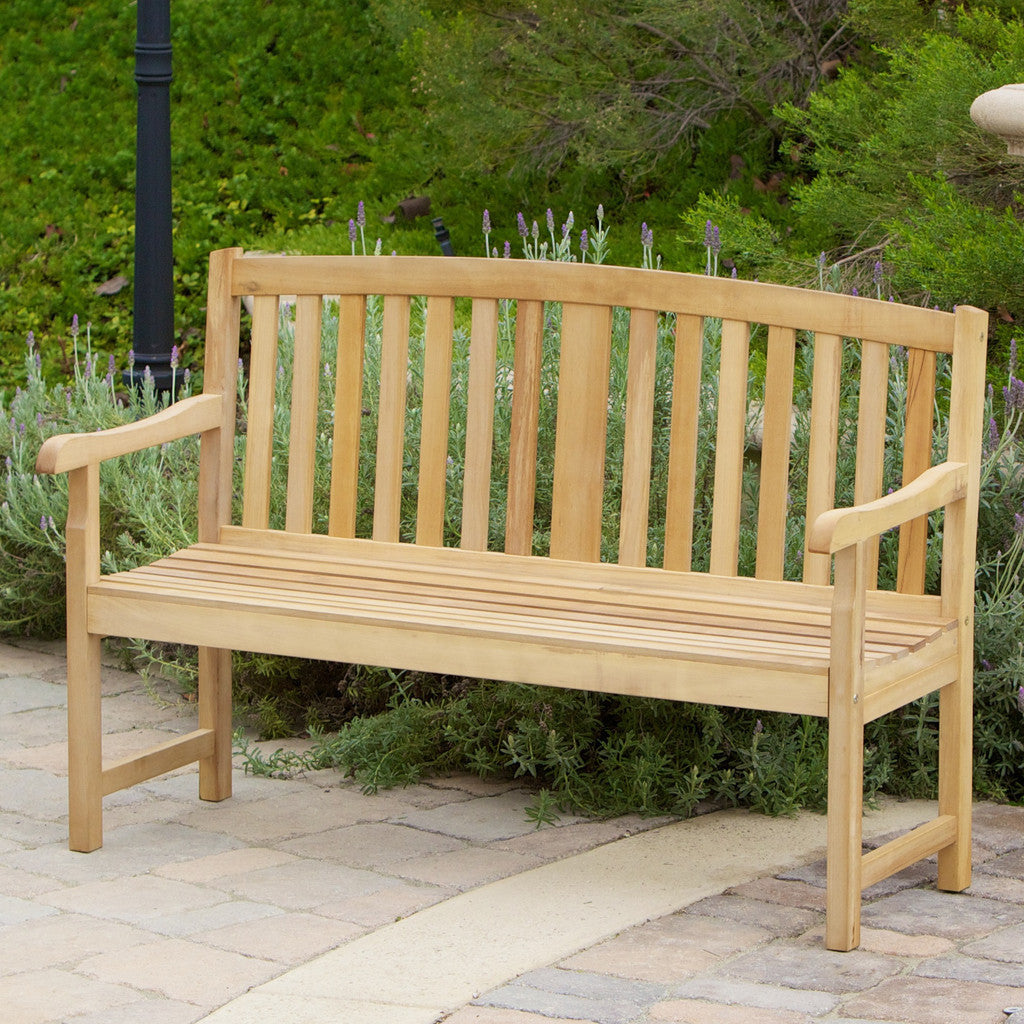 817056016523 San Luis Eucalyptus Outdoor Bench Full View Outdoor