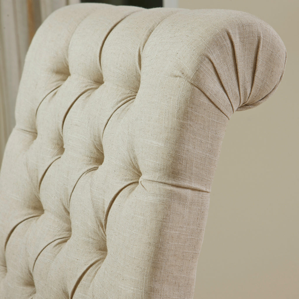 Jordan Tall Tufted Back Dark Beige Fabric Chair