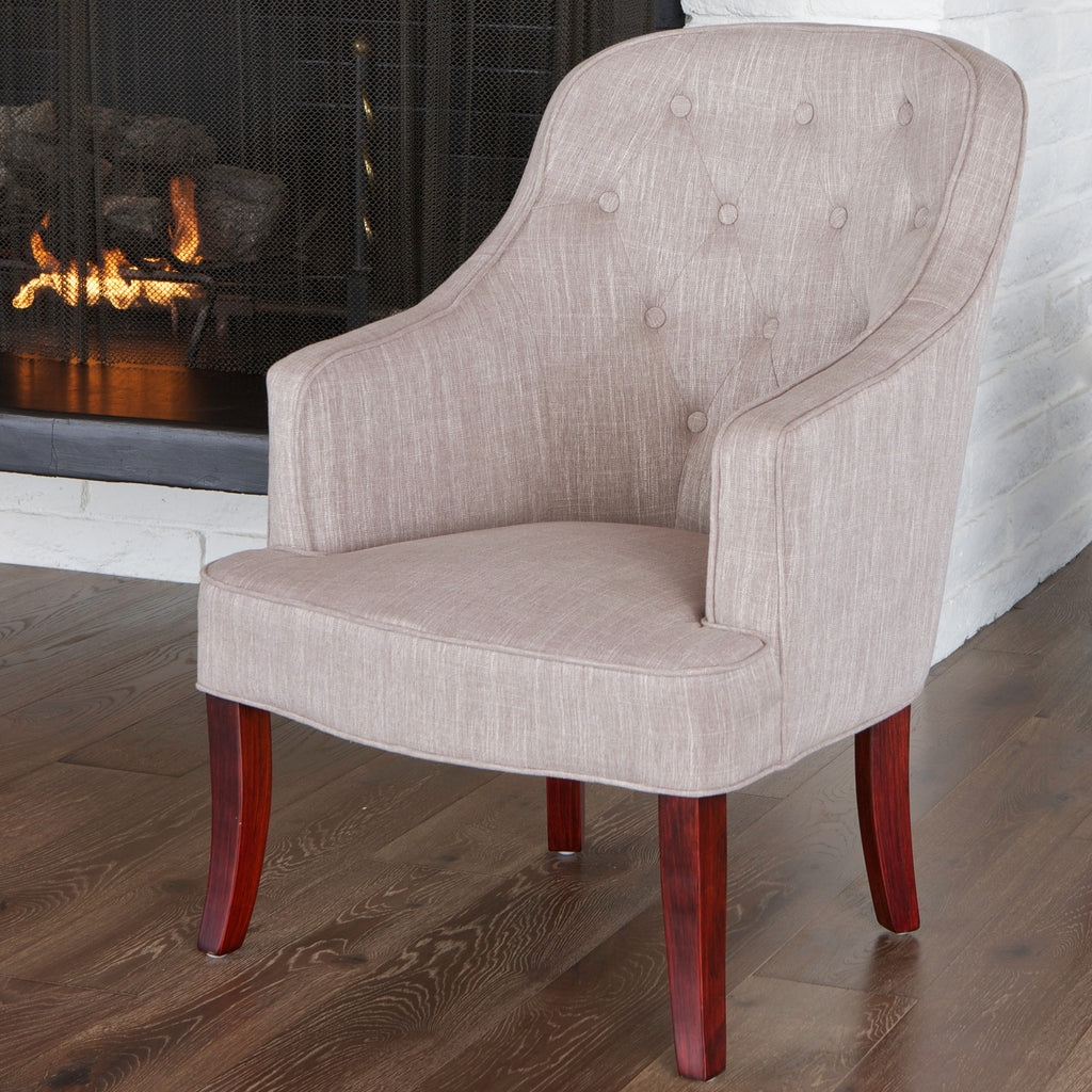 817056016851 Ethan Chamois Fabric Chair