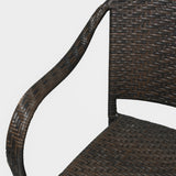 817056017452 Rancho Outdoor Wicker Chair Arm Detail View