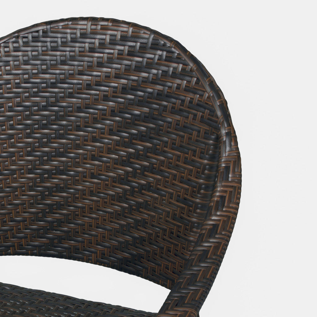 817056017452 Rancho Outdoor Wicker Chair Back Detail View