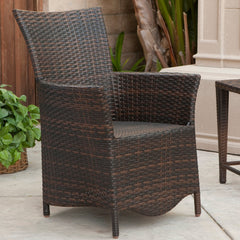 817056017506 Agoura Outdoor Wicker Chair Full View Outdoors