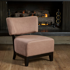 Angola Brown Fabric Accent Chair