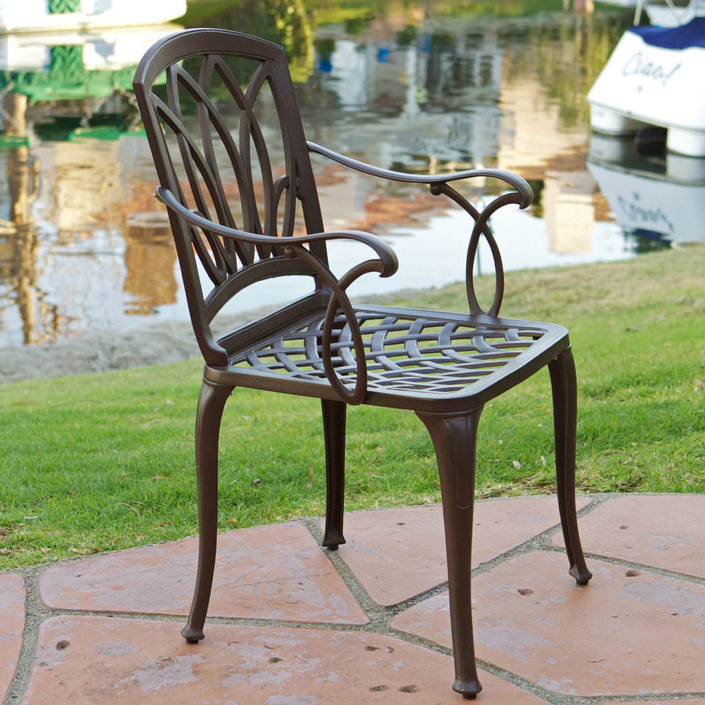 817056018121 Miller 5-Peice Cast Aluminum Outdoor Dining Set