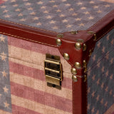 American Flag Decorative Trunks (Set of 3)