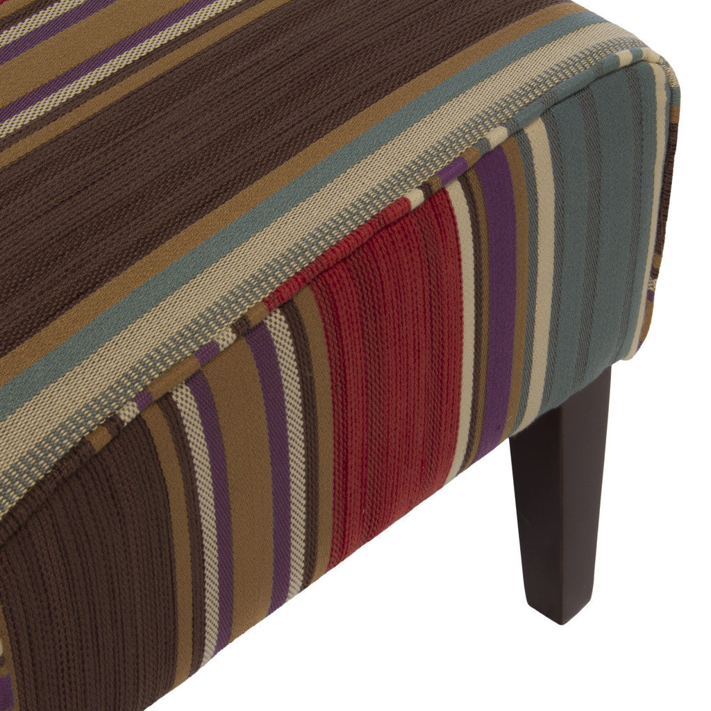 817056018626 Henley Multicolored Slipper Chairs (Set of 2) Seat Detail View