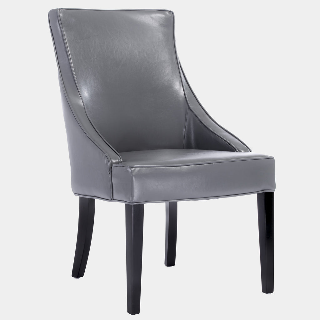 Kent Grey Leather Accent Chair