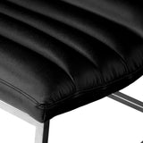817056019463 Caviar Black Leather Sofa Chair Seat View