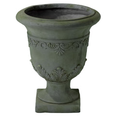 817056019586 Catania Antique Grey Moss Stone Planter White Background