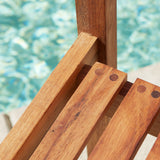 817056019760 Naples 5pc Natural Hard Wood Dining Set Chair Detail View