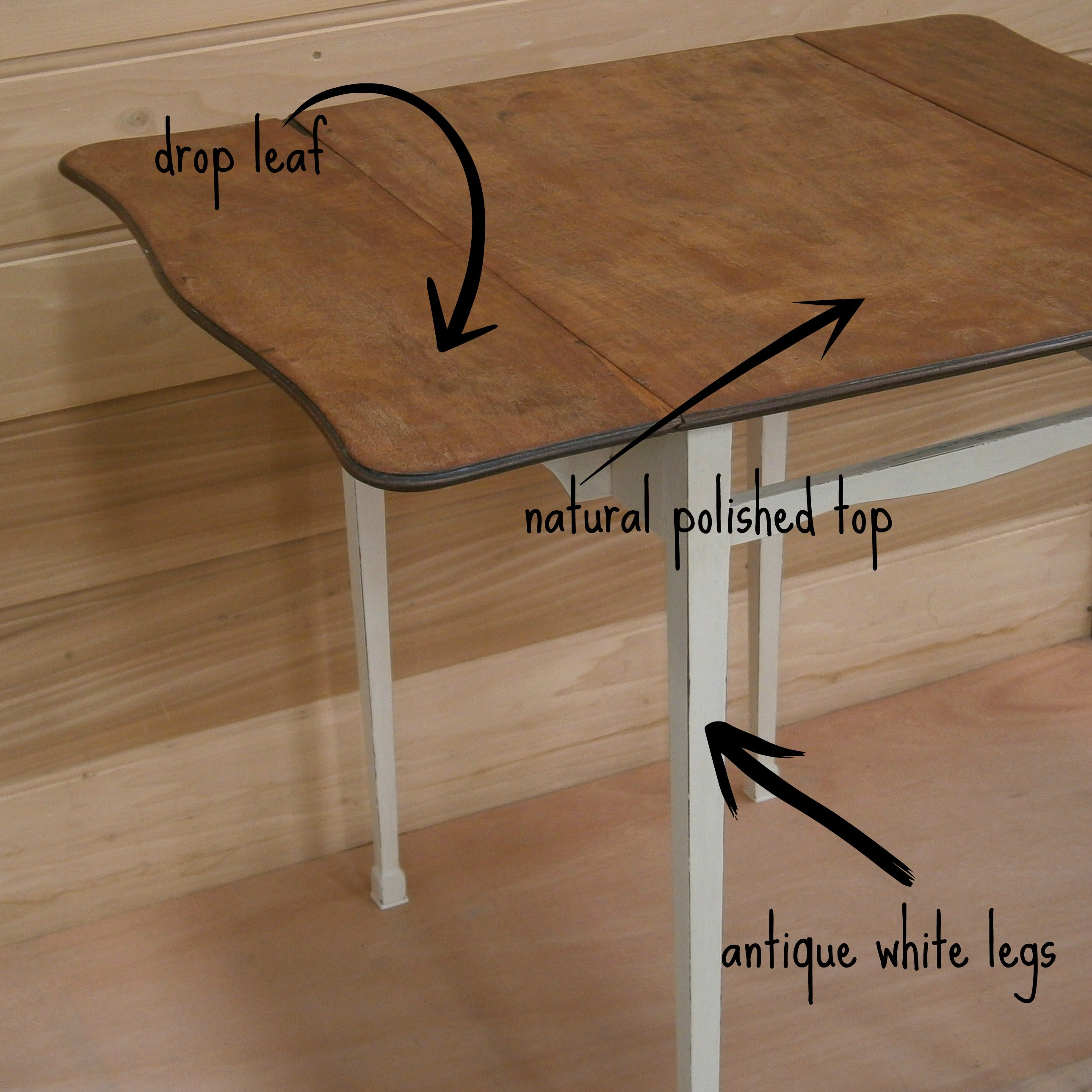 Remember the drop leaf tables of old  This one has been beautifully  restored. Small Solid Wood Drop Leaf Table