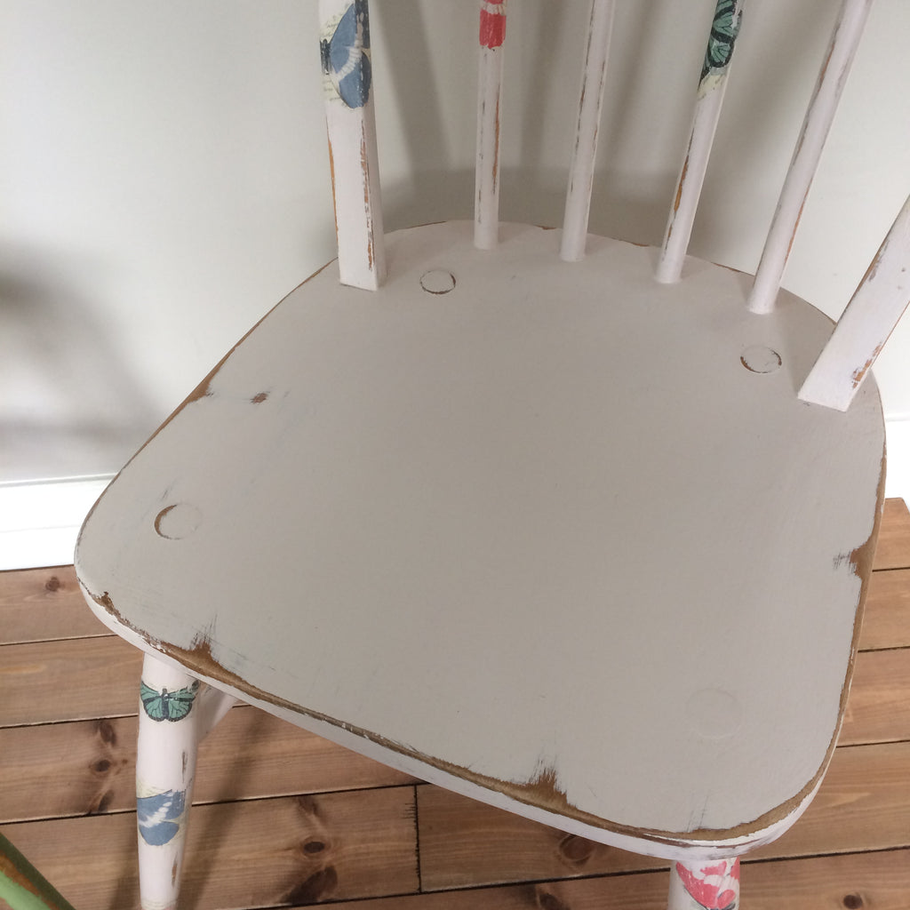 Pair of Painted Decoupage Chairs - edward & ellen