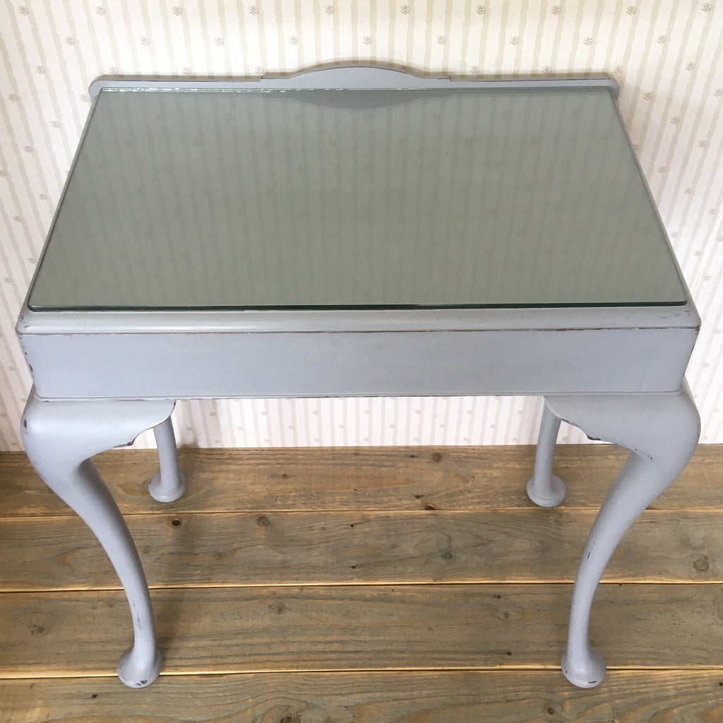 Hand Painted Grey Console Table - edward & ellen