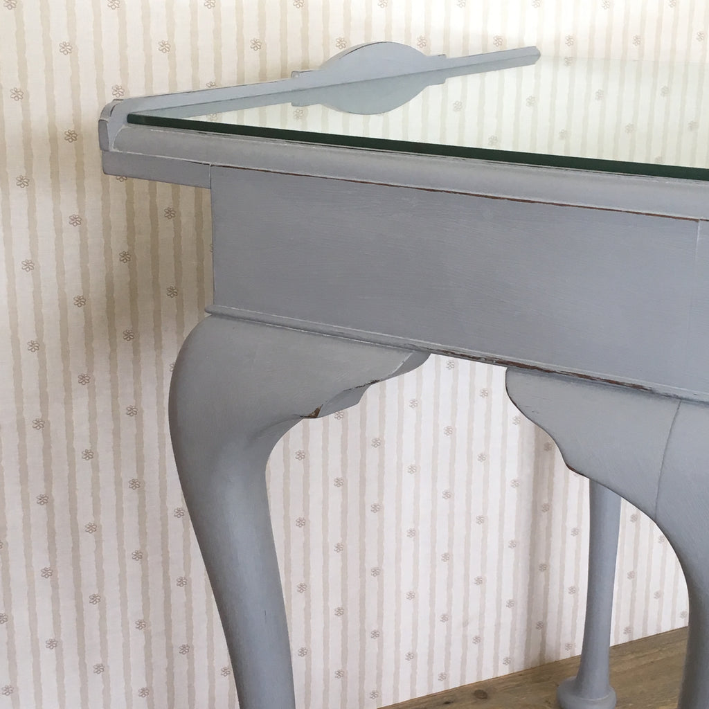 Hand Painted Grey Console Table