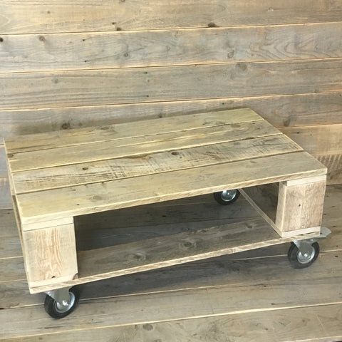 Large Heavy Duty Style Pallet Coffee Table on Castors