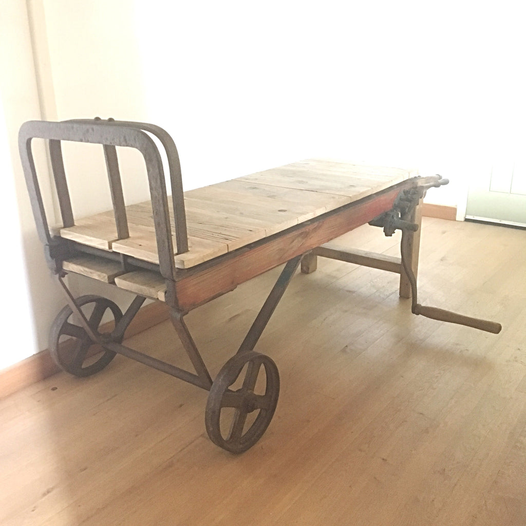 Unique Vintage Sack Barrow Extending Coffee Table - edward & ellen
