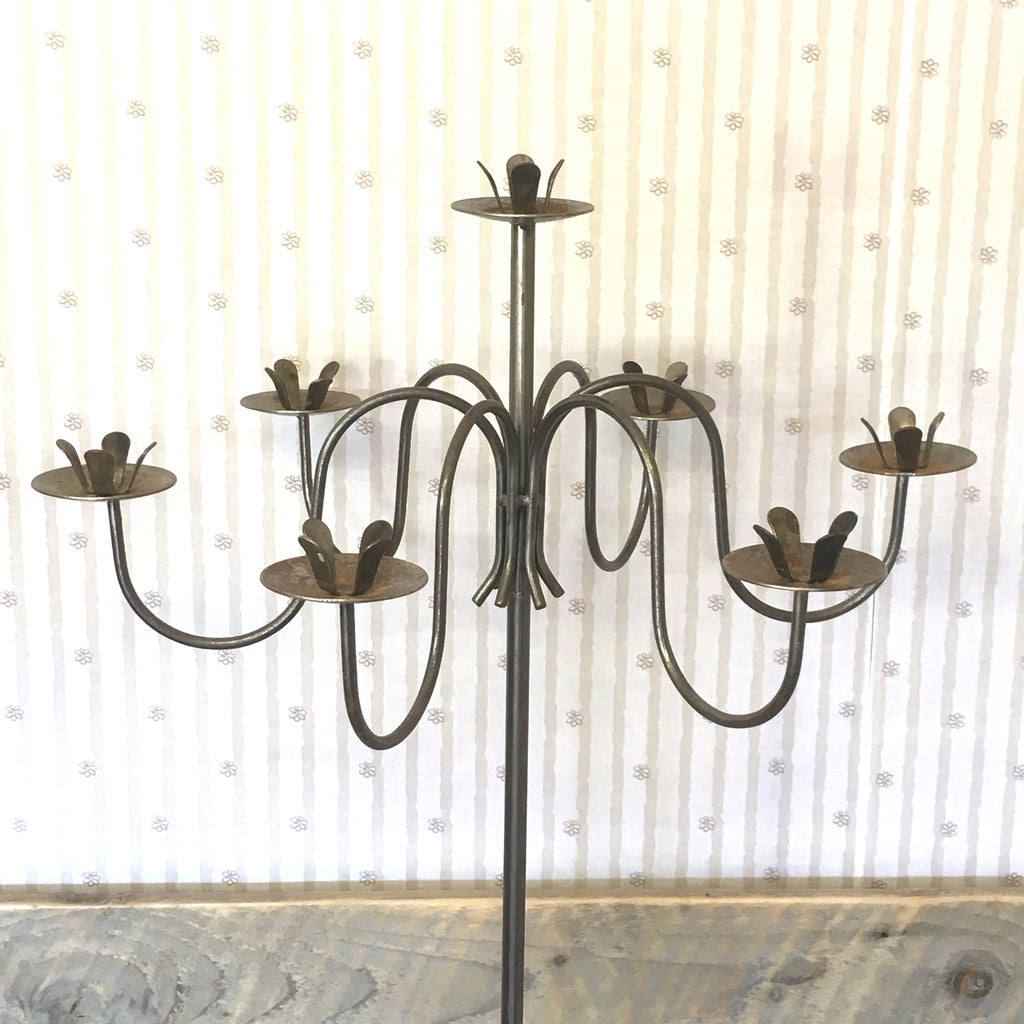 Two Tall Steel Candelabras - edward & ellen