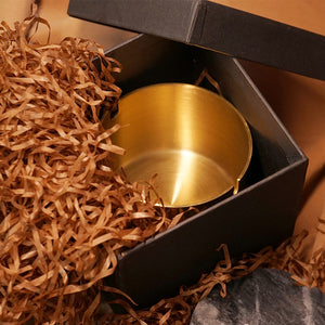 Gold stainless steel ashtray